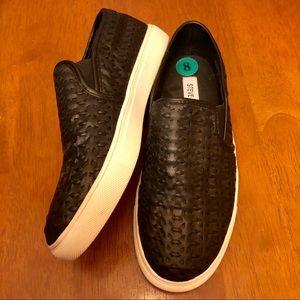Steve Madden black woven loafer slip on shoes 8